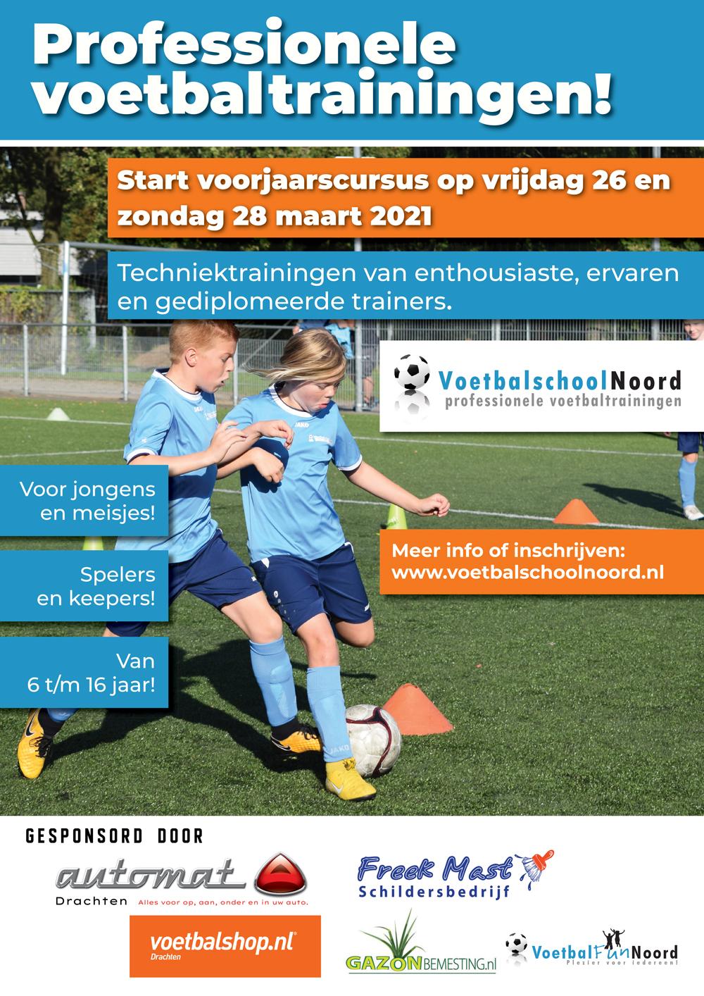Start Voorjaarscursus 2021 Voetbalschool Noord en Etienne Stomp Academy